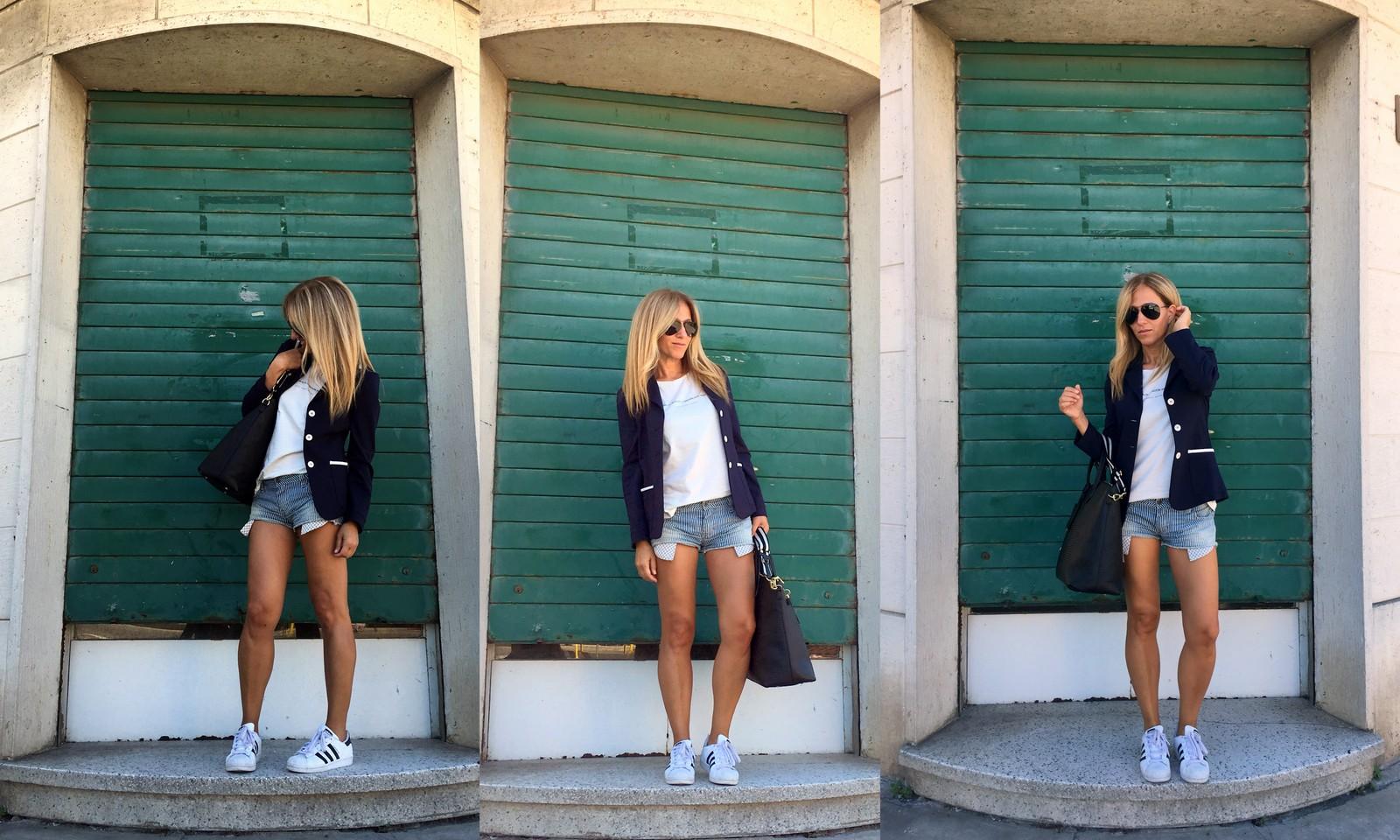 short and blazer